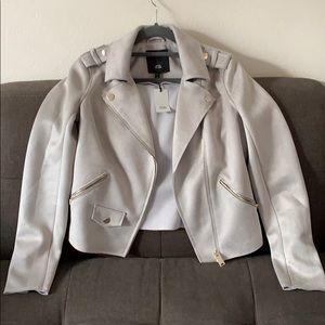 River Island Suede Moto Jacket